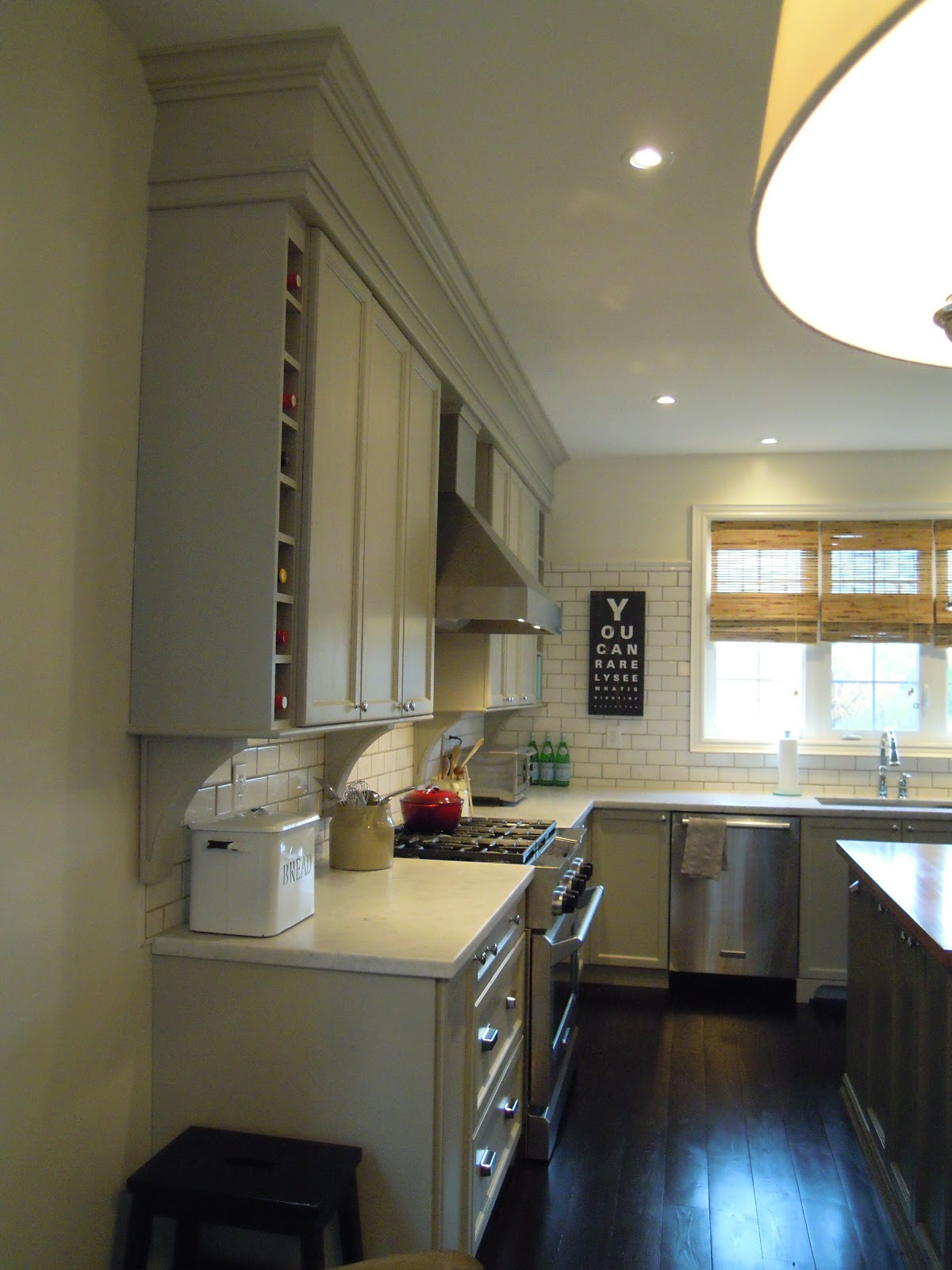 Kitchen Cabinets with Bulkhead