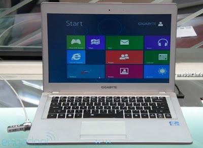Daftar Harga laptop gaming gigabyte terbaru, fitur dan keunggulan gigabyte gaming ultrabook 2012, harga gigabyte U2442v ivy bridge, gambar laptop gigabyte terbaru