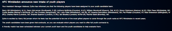Football Manager Youth intake dates