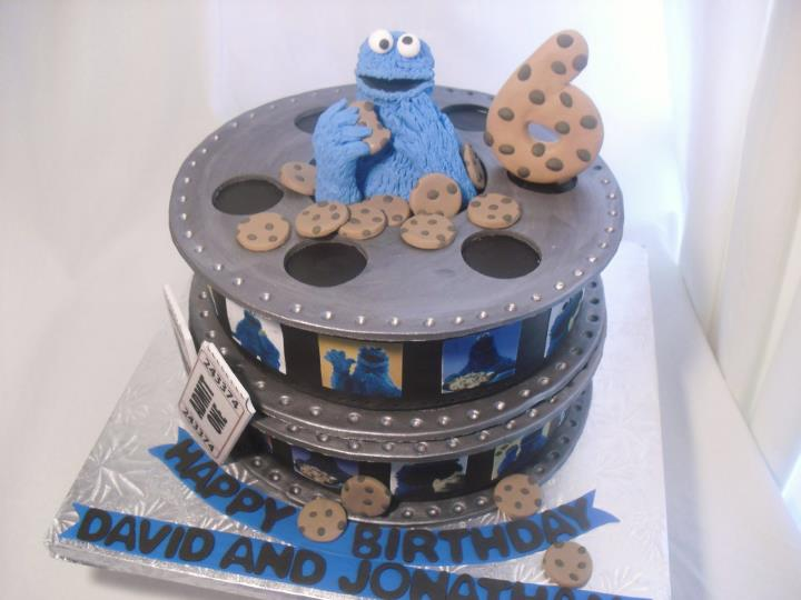 Cake With Photo Reel : made FRESH daily: Cookie Monster Film Reel Birthday Cake!