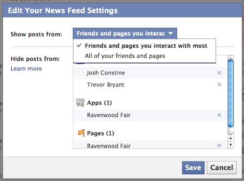 卓韻芝blog: facebook changed news feed setting... again