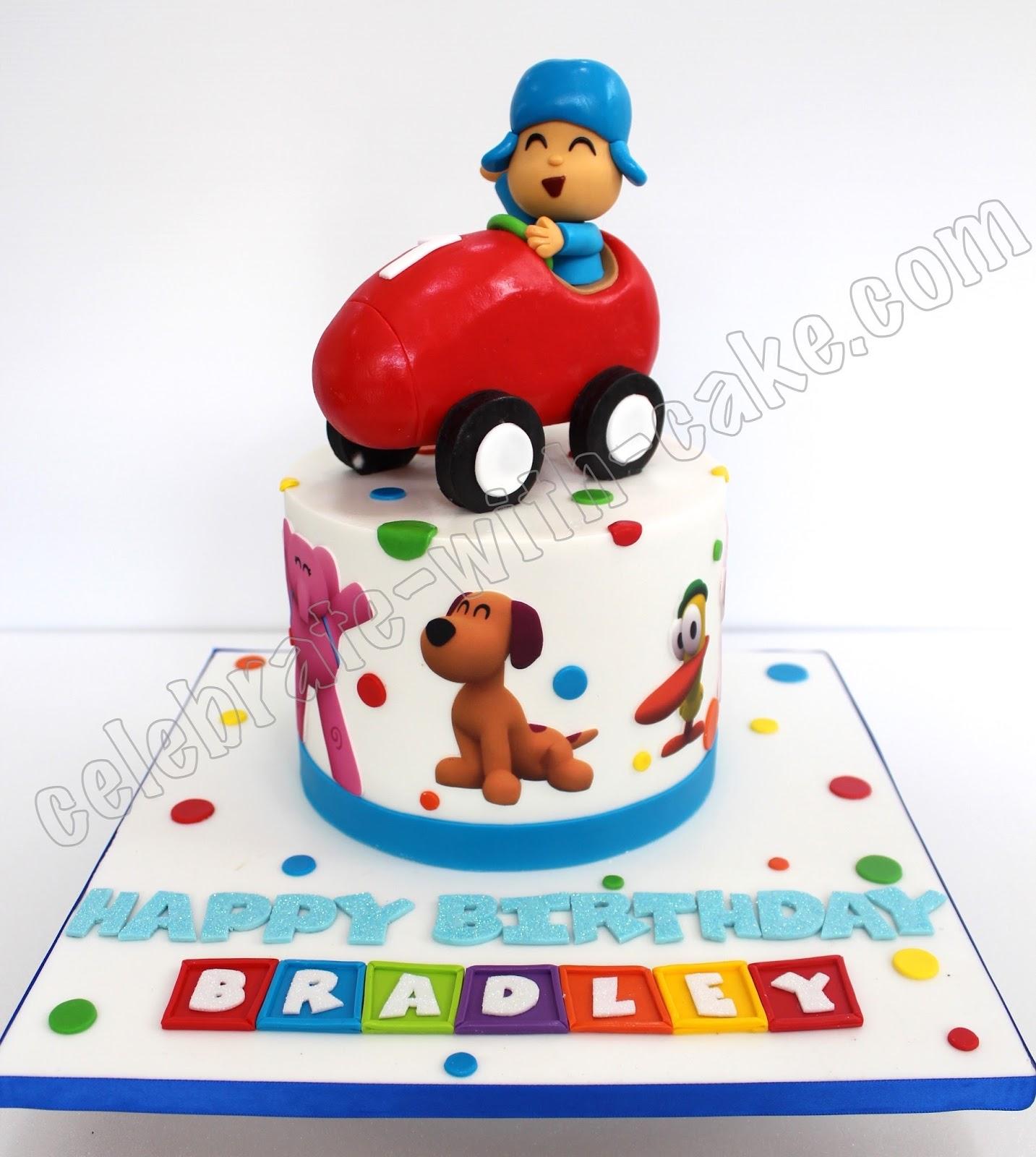 Celebrate With Cake Pocoyo In Car