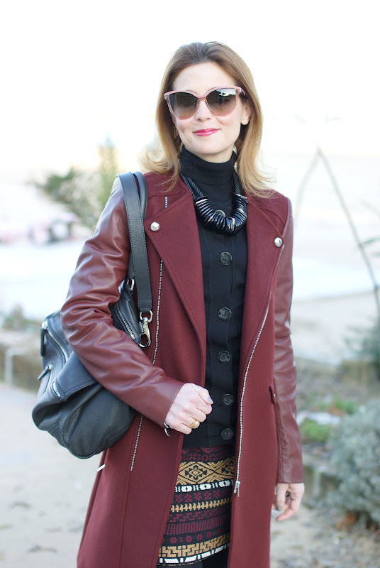 Stella McCartney sunglasses, Zara coat