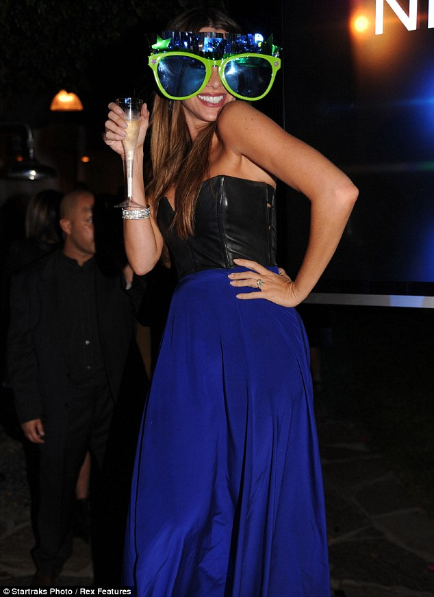 Happy days: Vergara rang in the new year in a stunning leather and ...