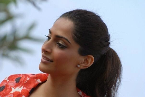 Sonam Kapoor doing press interviews Cannes Film Festival