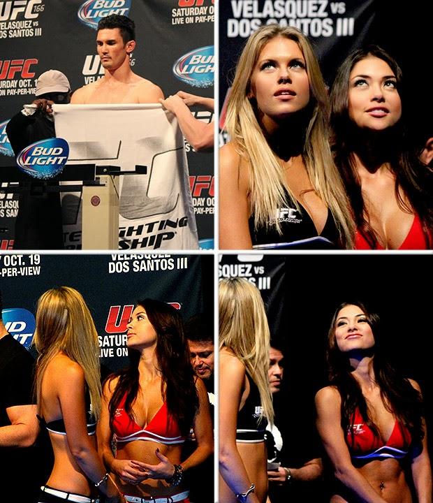Ring girls CFNM com Arianny Celeste e ring girls no UFC 166