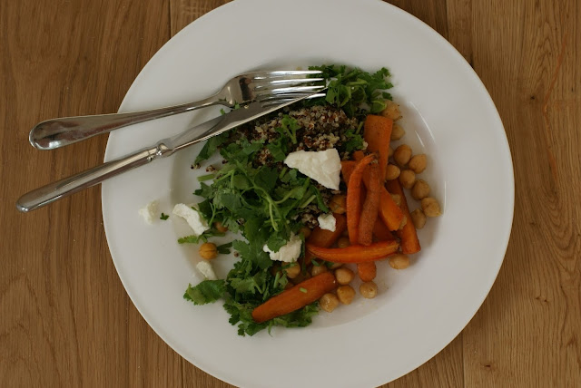 roasted carrot and lemon quinoa salad