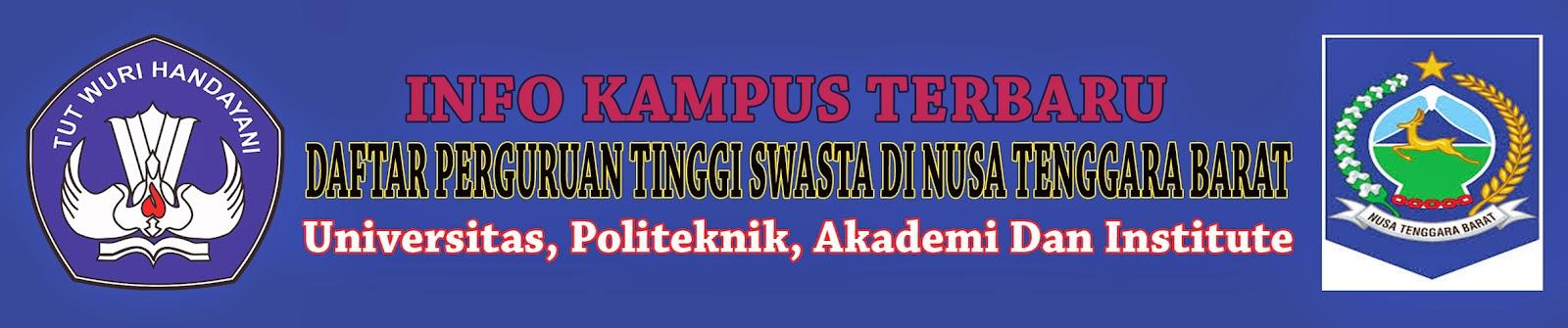 Daftar Perguruan Tinggi Swasta Di Nusa Tenggara Barat