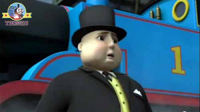 Sir Topham Hatt the Fat Controller couldn't believe his eyes Edward tank engine birthday festivity