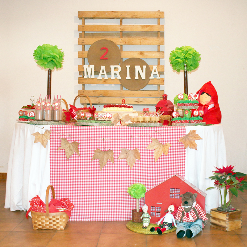 decoración caperucita roja chapeuzinho vermelho little little red riding hood decoration