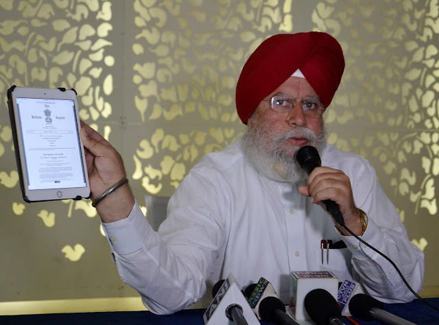 S S Ahluwalia today called media to clarify his speech on Gorkhaland on Independence Day.