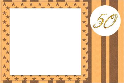 Bodas De Ouro Kit Completo Com Molduras Para Convites Rótulos