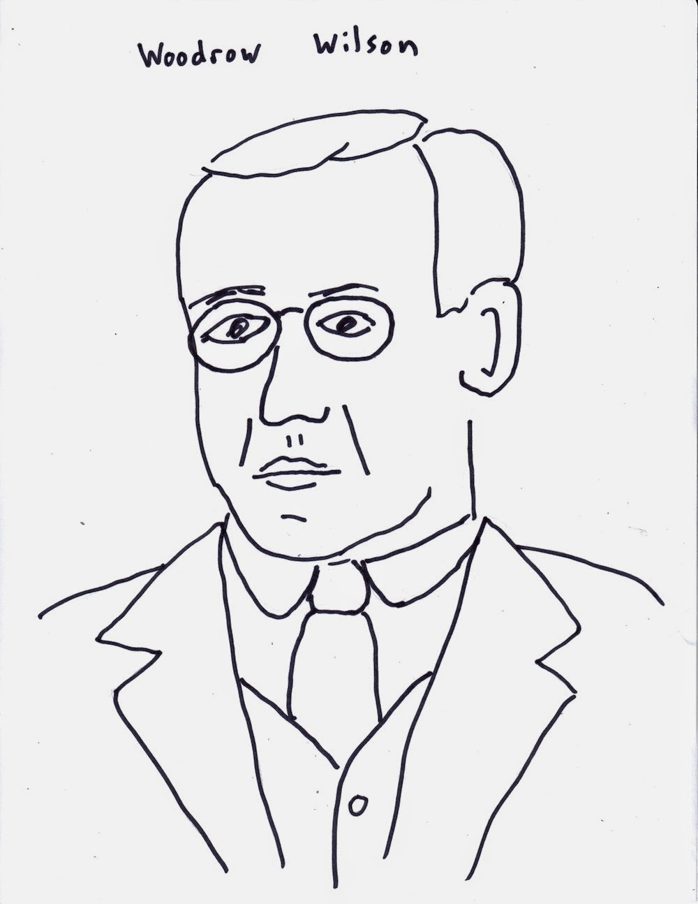 woodrow wilson coloring pages - photo#10