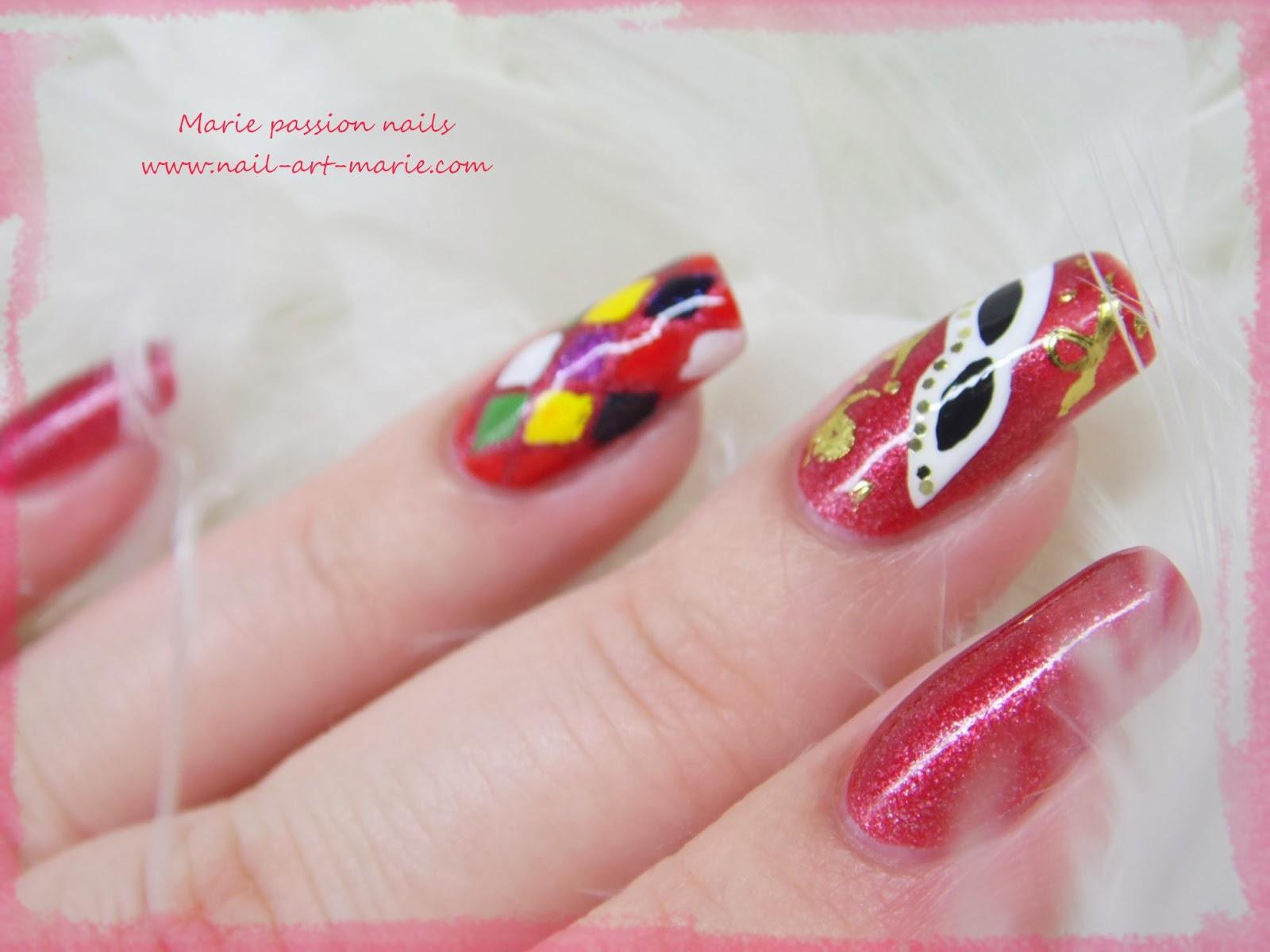 Nail Art Carnaval de Venise3