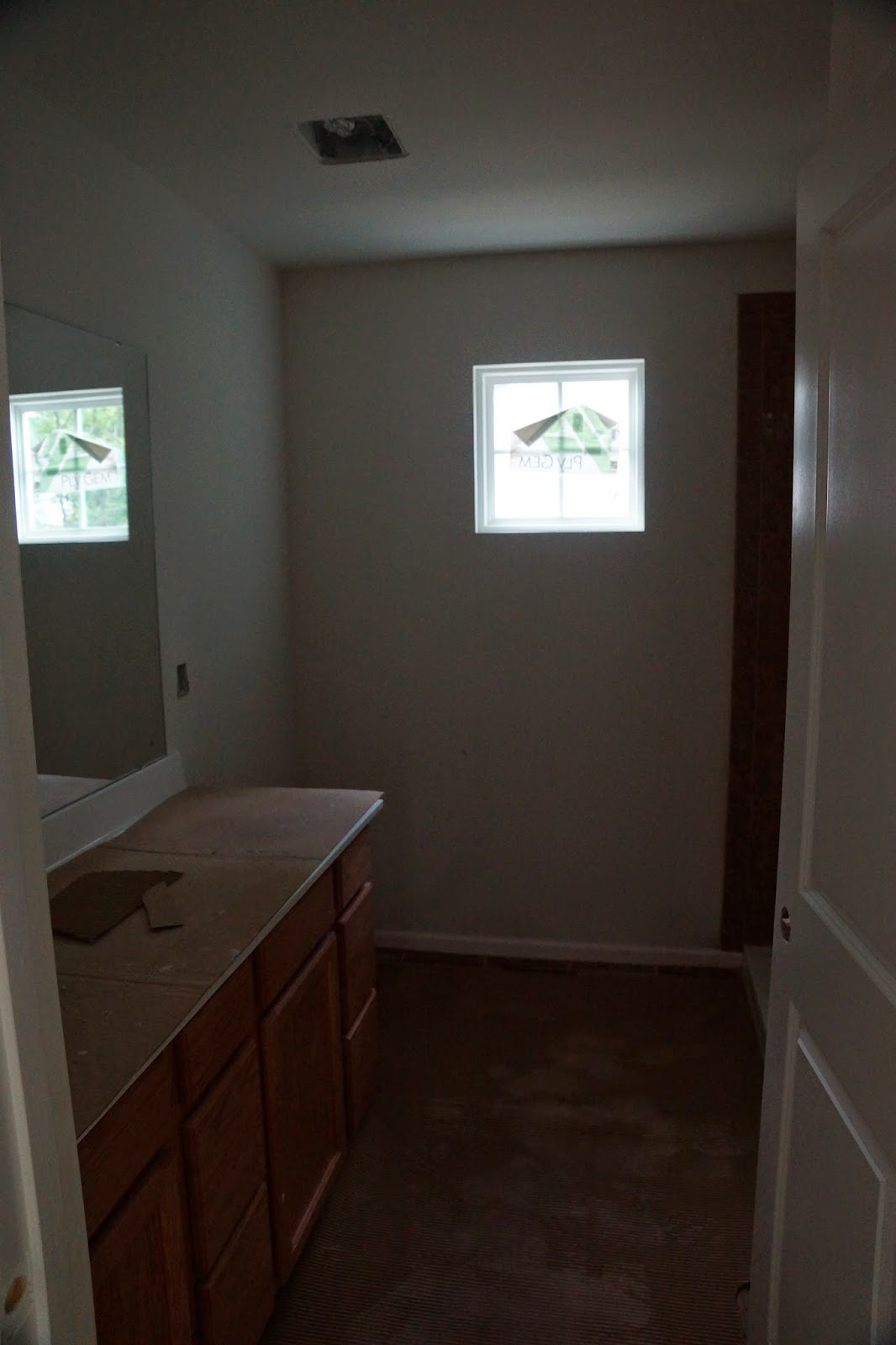Picture of double cabinets in master bathroom