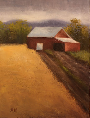 Road to Barn 12x9