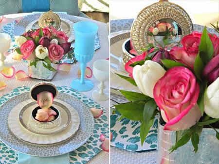Украса на маса с рози за Свети Валентин