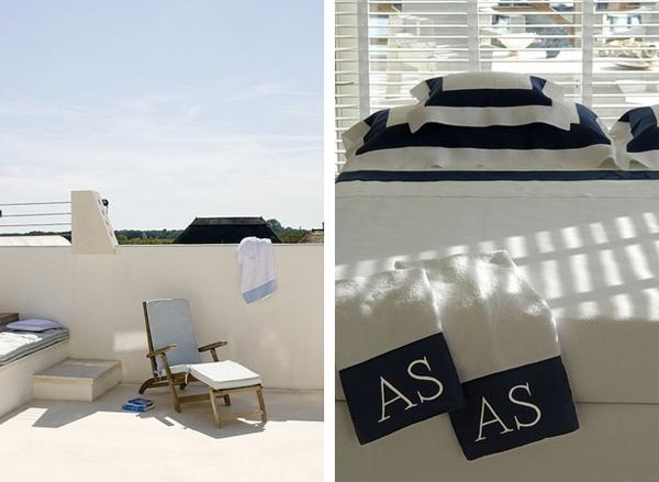 detalle de dormitorio y terraza