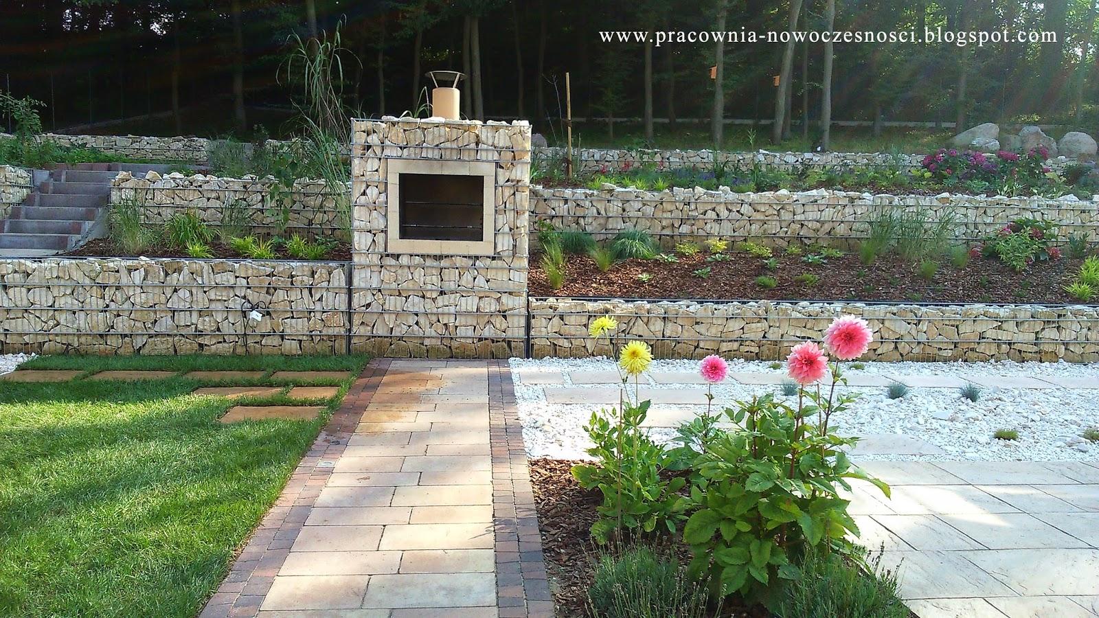 grill w nowoczesnym ogrodzie