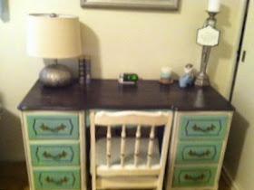 Refinished Vintage Desk