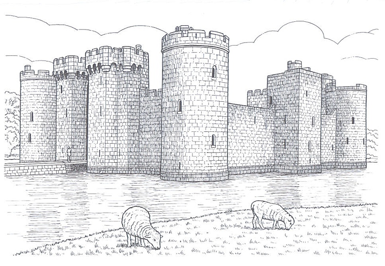 castle coloring pages for children - photo#40