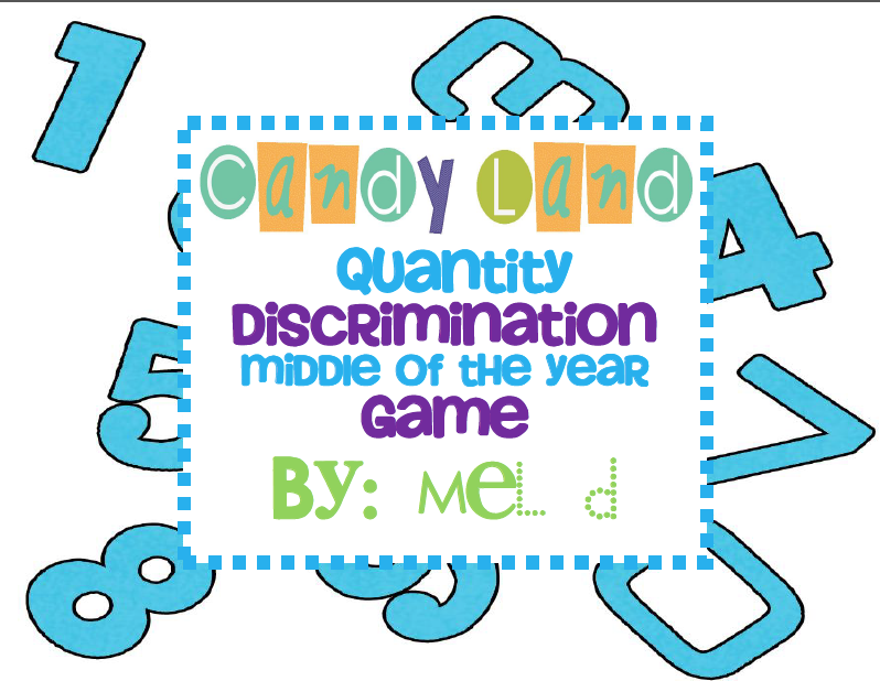 http://www.teacherspayteachers.com/Product/Candy-Land-Quantity-Discrimination-MOY-Game-239393
