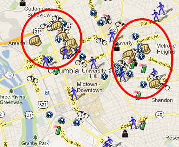 Columbia SC Is On SpotCrime SpotCrime The Publics Crime Map - Columbia sc map