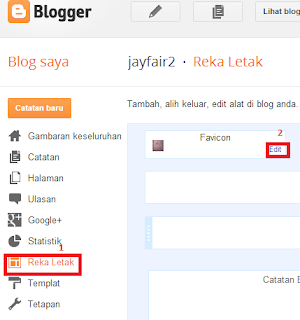 Cara  Tukar Icon Blog /Favicon