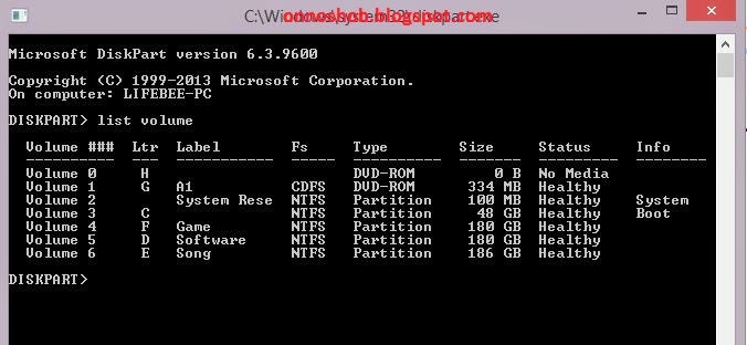 Hide and unhide the hard disk Partition