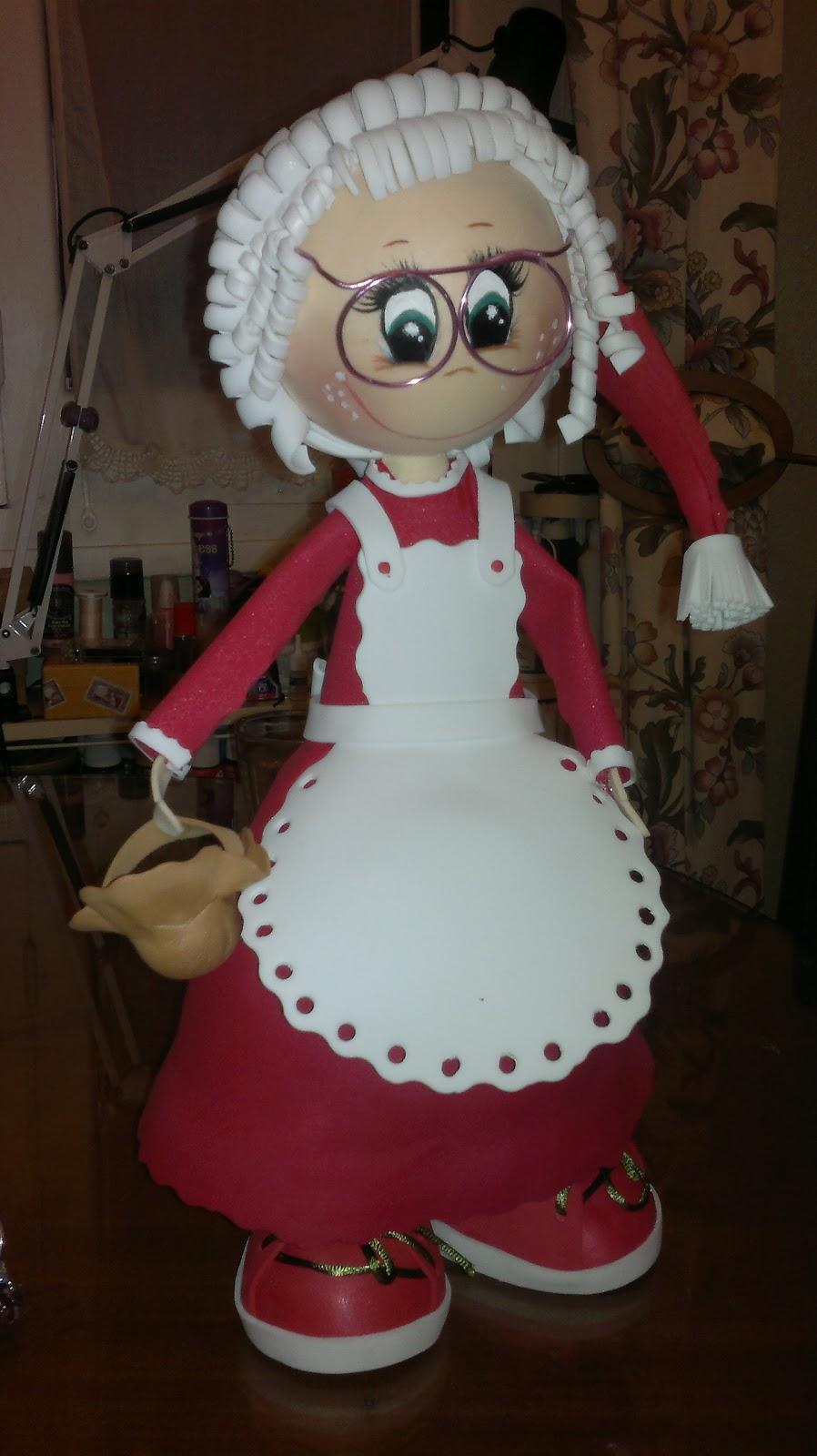 Como hacer fofuchas de Navidad - Imagui