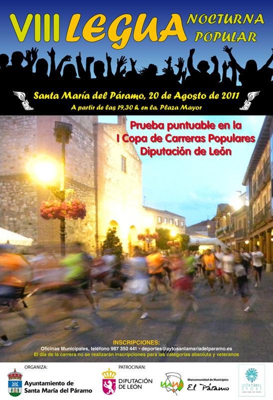VIII Legua Nocturna Santa María del Páramo - 5572 m - Sábado 20 de agosto de 2011, a partir de las 19:30 W_CARTEL_VIII_LEGUA_NOCTURNA
