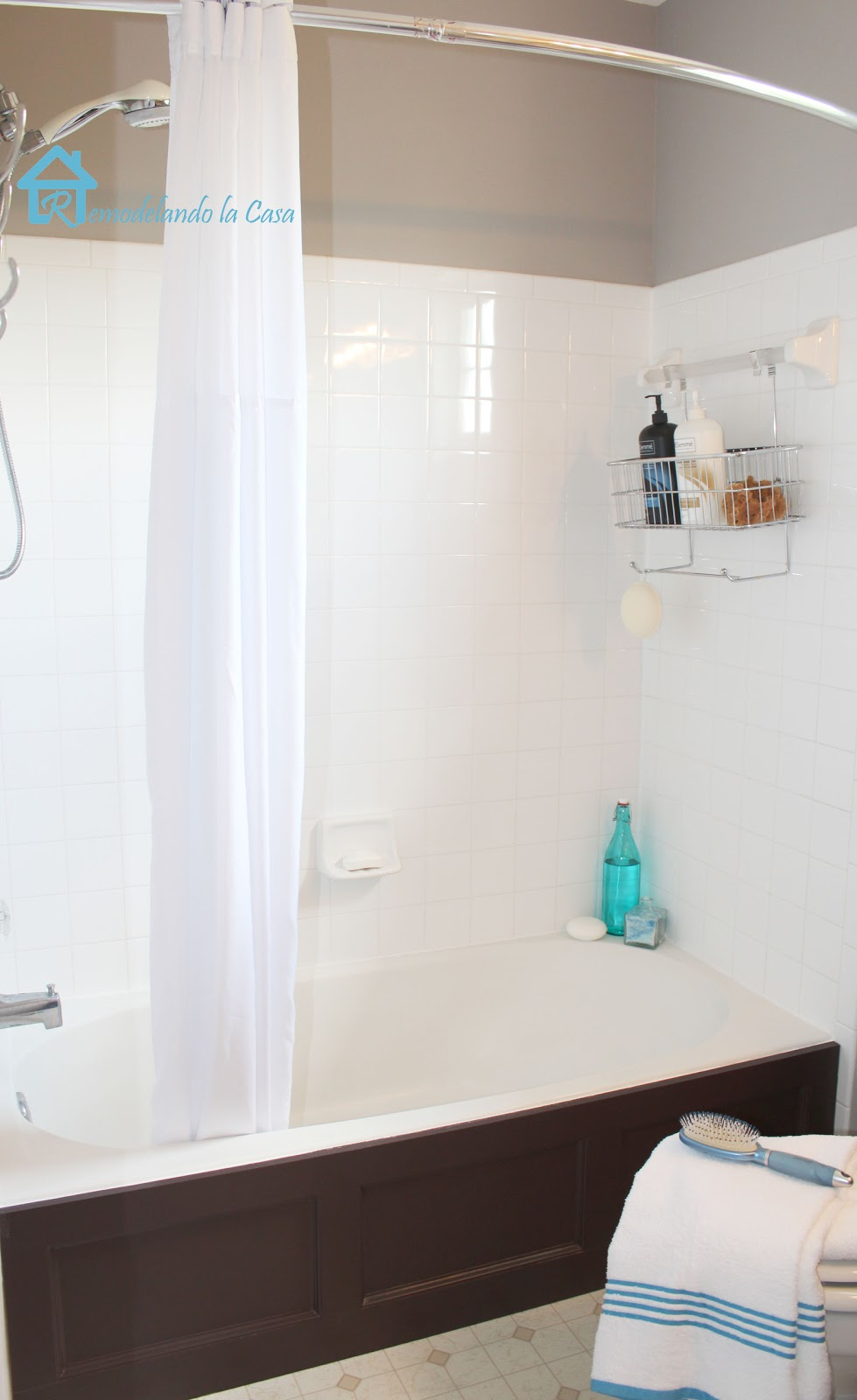 I Also Love The Look Of Panels, Thatu0027s Why I Decided To Give A Plain Bathtub  A Dressed Up Treatment.
