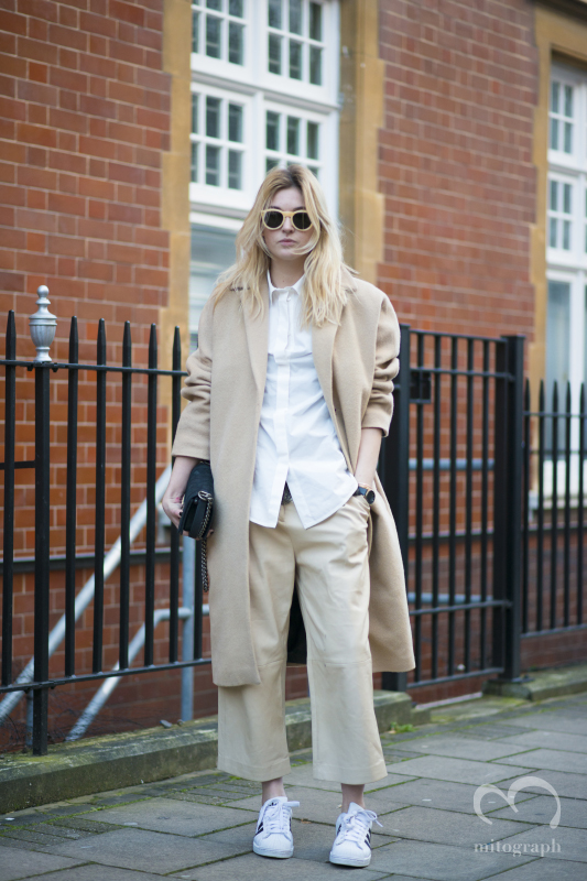 Camille Charriere attends to JWAnderson show during London Fashion Week 2014 Fall Winter LFW