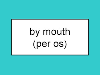 What is the abbreviation for by mouth