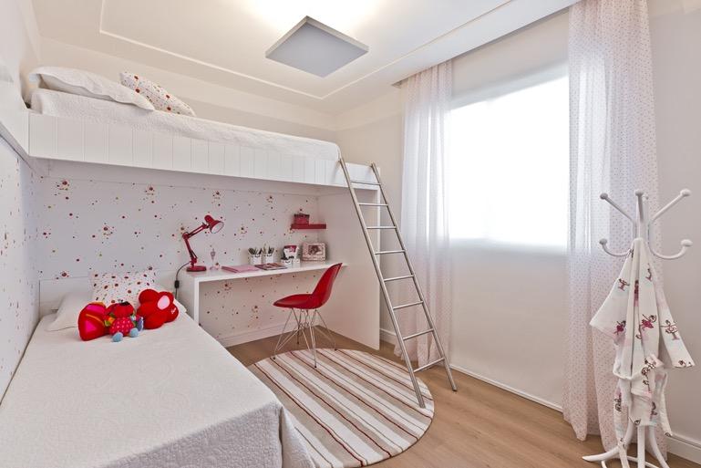 Camas suspensas, a solução para quartos pequenos Sempre  ~ Quarto Rosa Ou Roxo