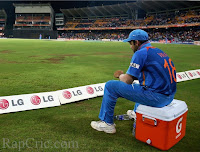 Virat sits outside boundry line after match was over and India out of T20 world cup