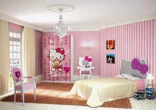 Desain Interior Kamar Tidur Hello Kitty