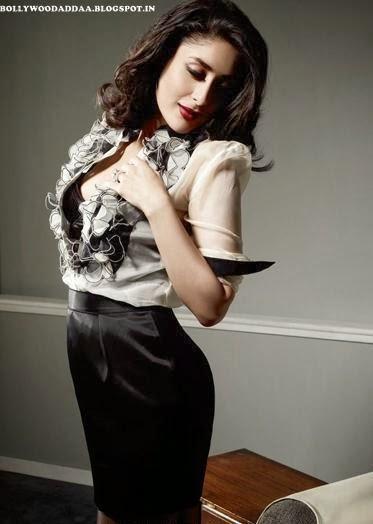 Kareena Kapoor in black mini skirt
