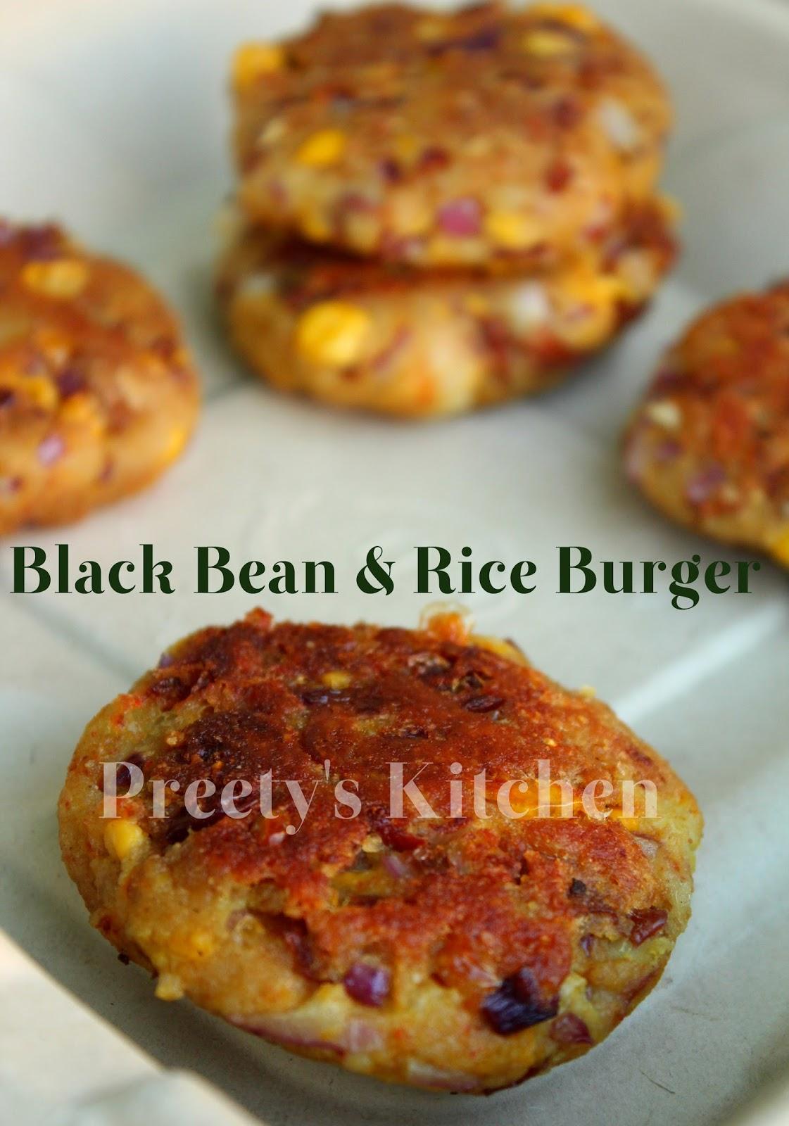 ... Bean & Rice Burger / Patty ( Rajma Ki Tikki ) / Vegan Burger Recipe