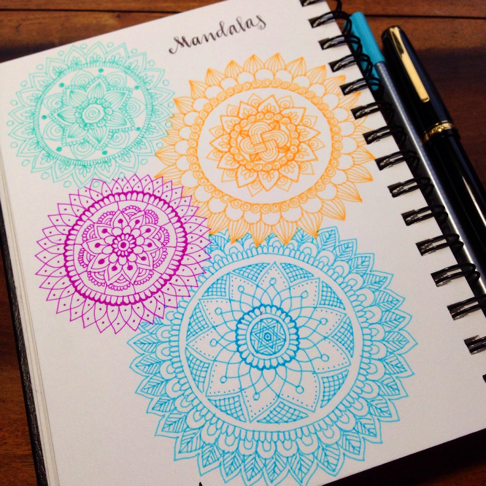 colored mandalas on paper