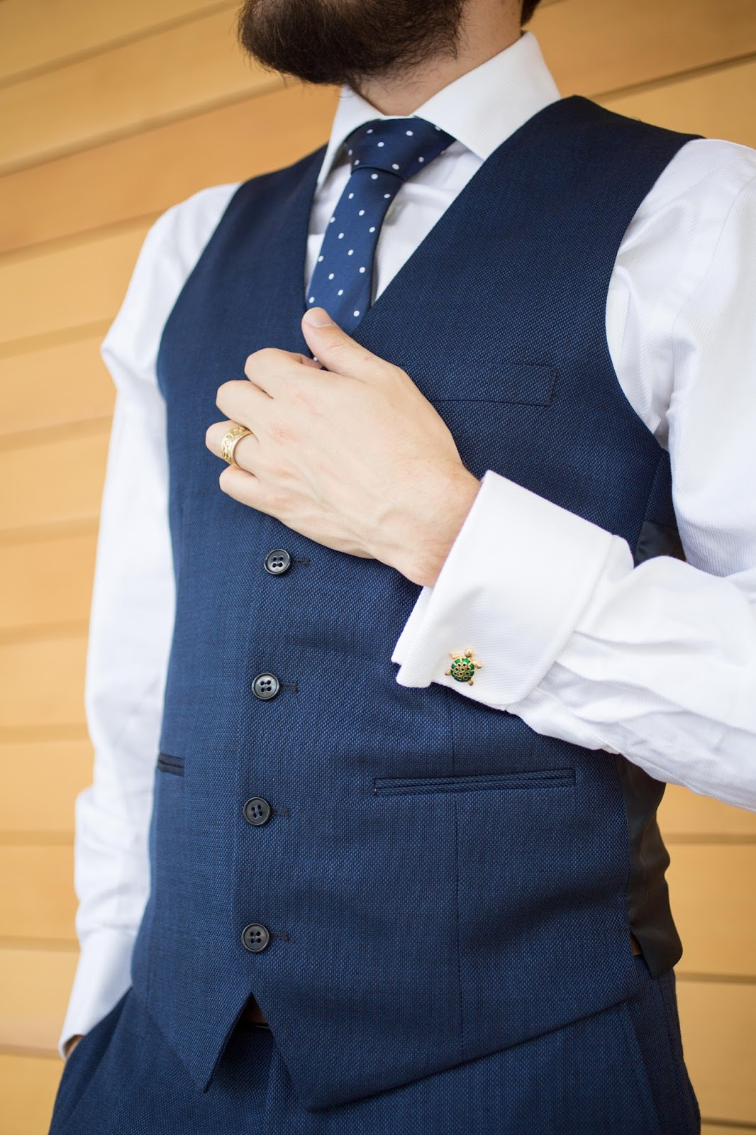 Navy and White Menswear Details