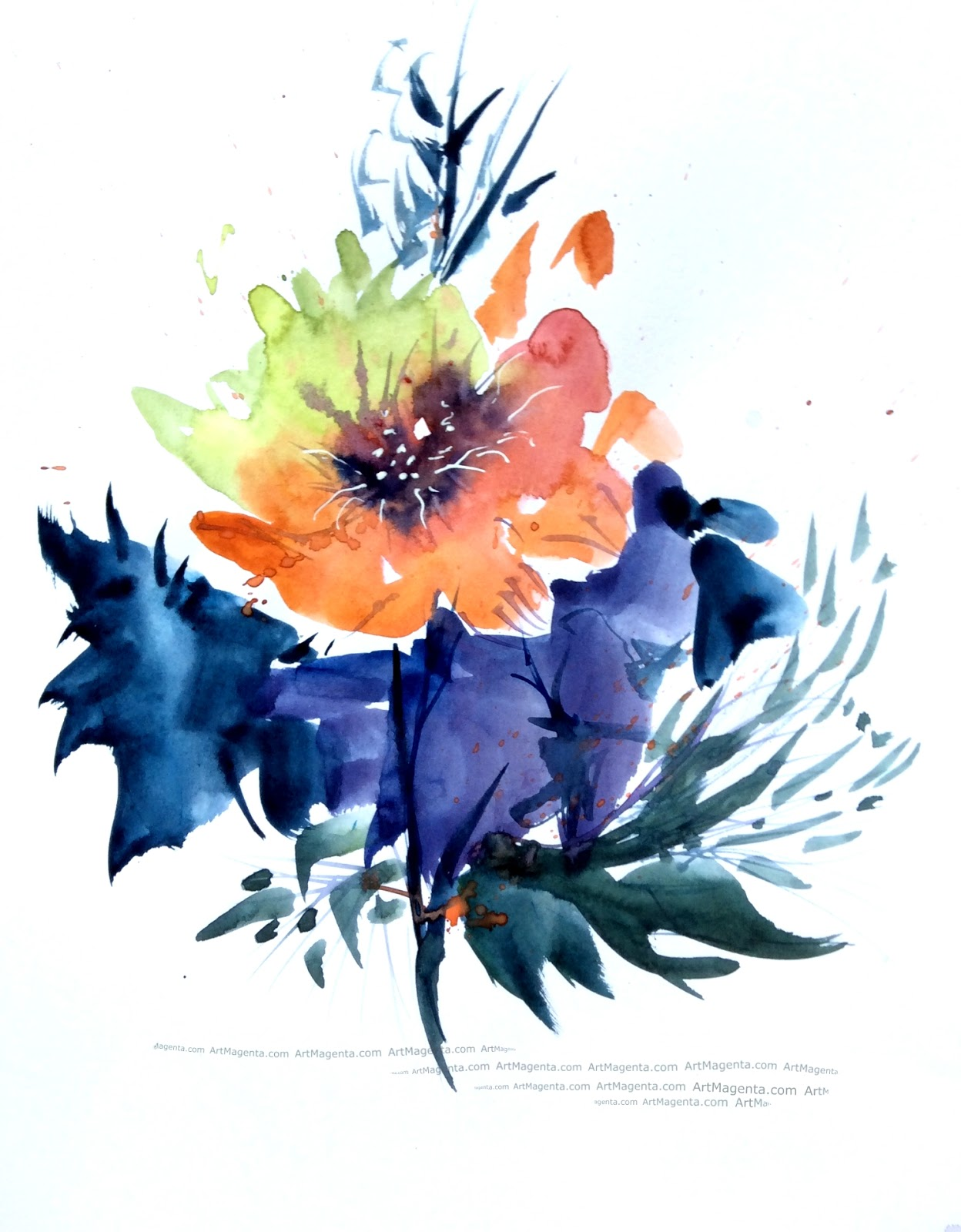 A water color flower by Artmagenta