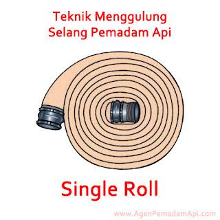 Teknik Menggulung Selang Pemadam Api Single Roll