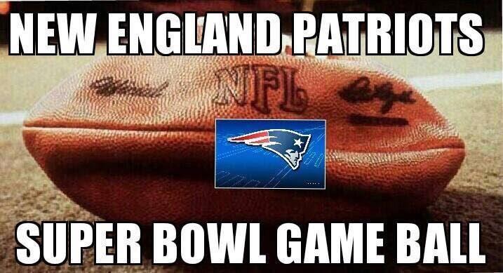 New England Patriots super bowl game ball