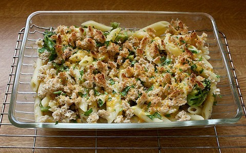 Baked broccoli casserole with pasta