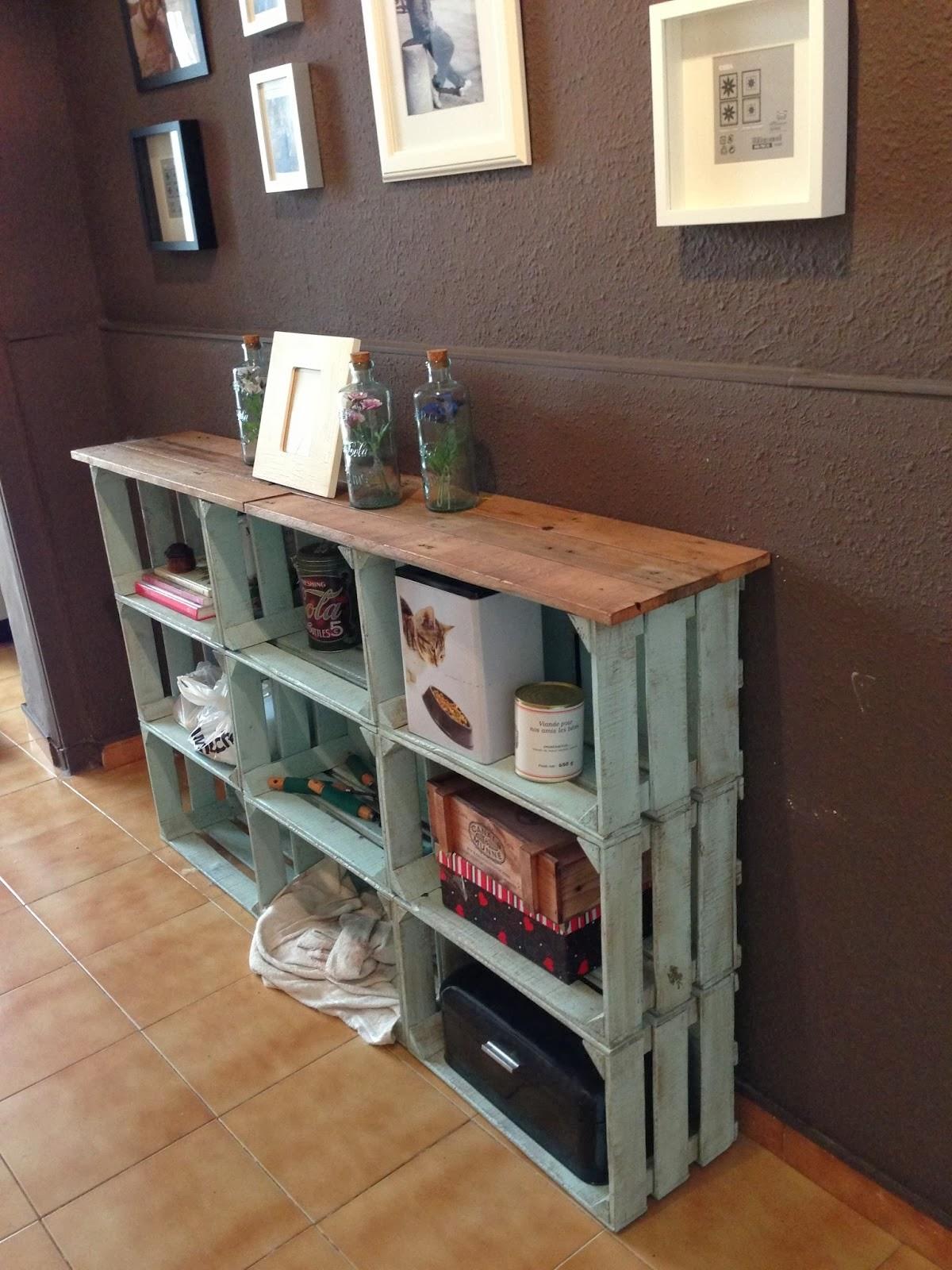 Mi rinc n de sue os ideas para reciclar cajas de madera - Cajones de fruta de madera ...
