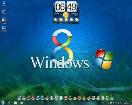 windows 8 theme. Windows 8 (Theme For Windows 7