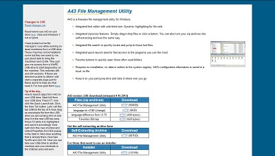 A43 File Management Utility, File Management
