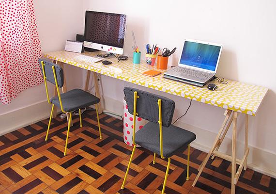 Como fazer uma mesa de porta (super barata) dcoracao com  ~ Como Fazer Uma Mesa De Estudo Para Quarto