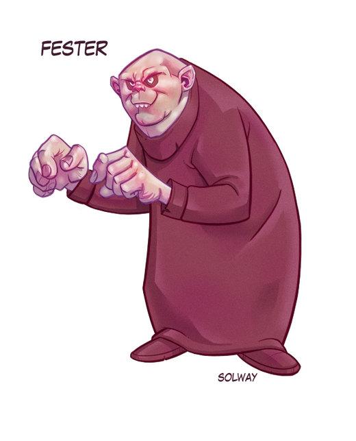 Fester : Addams Family por Kravenous